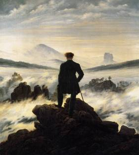 friedrich wanderer above the mists